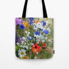 Wildflowers in a summer meadow Tote Bag