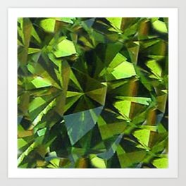 AUGUST BABIES GREEN PERIDOT BIRTHSTONE GEM Art Print