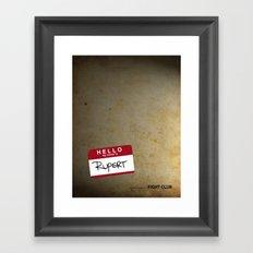 Fight Club Movie poster. Framed Art Print