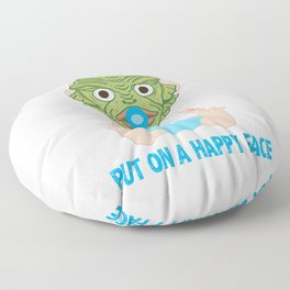 Put on a Happy Face Floor Pillow