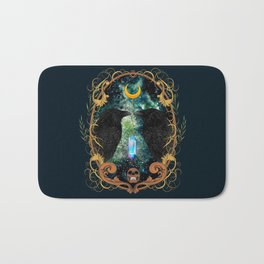 Raven Moon Oracle With Crystal Pendulum Bath Mat
