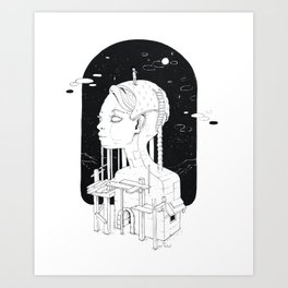 Outpost of the observer Art Print