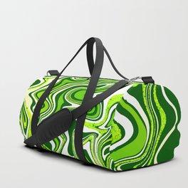 Green Glitter Agate Slice Duffle Bag