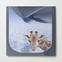 Yeah yeah, for sure there is a funny giraffe...  #decor #society6 #buyart Metal Print