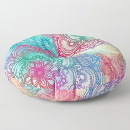 Round & Round the Rainbow Floor Pillow