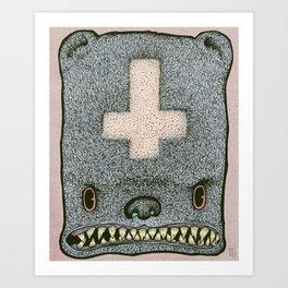 Evil Ted Art Print