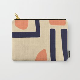 Coral and Blue Carry-All Pouch