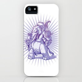 Angry Ganesh iPhone Case