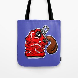 Sad Fizzy Crushed Cola Can Cartoon Deflated Dolly Tote Bag