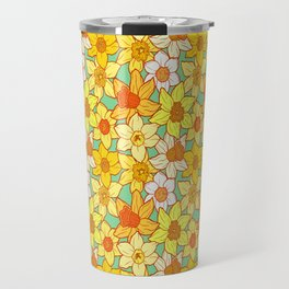 Daffodils (blue) Travel Mug