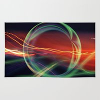 stargate Area & Throw Rugs featuring The Gate Abstract by minx267