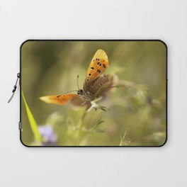 Morning impression with orange butterfly Laptop Sleeve