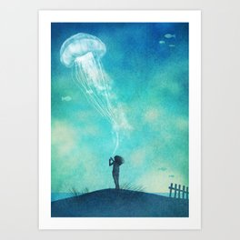 The Thing About Jellyfish Art Print