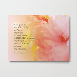 Serenity Prayer Cherry Blossoms  Metal Print