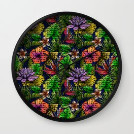 Tropical Rainforest Wall Clock