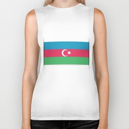 Flag of Azerbaijan. The slit in the paper with shadows.  Biker Tank