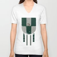 slytherin V-neck T-shirts featuring slytherin crest by nisimalotse