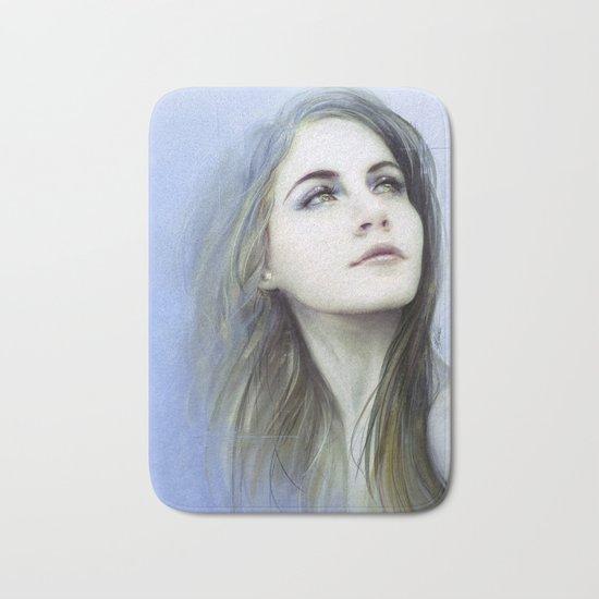 Self - Painterly girl portrait Bath Mat