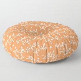 Be Full of Self Worth - Hand Lettering Design Floor Pillow