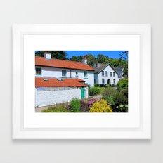 Caldey Island Village.Wales. Framed Art Print