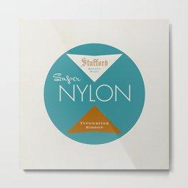 """Vintage Typewriter Tin Lids Series: """"Super Nylon"""" Metal Print"""