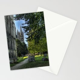 The Cathedral and Graveyard at Peterborough Stationery Cards