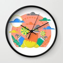 Cute Candy Pumpkin Scene Halloween | Funny & Great Gift Wall Clock