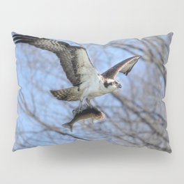 Osprey and Prey - Wildlife Photography Pillow Sham