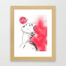 Ecstasy!  Framed Art Print