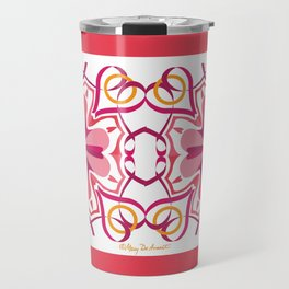 Lyrical Love Mandala x 2 - Pink Gold Travel Mug
