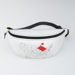 Knob Pin New Mexico Fanny Pack