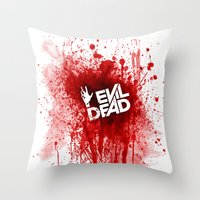 evil dead Throw Pillows featuring Evil Dead 2013 by Dukesman