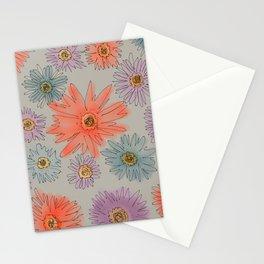 Fleurs en Gris Stationery Cards