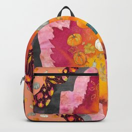 Concentric Fall Leaves - Autumn Abstraction Backpack