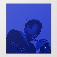 miles davis Canvas Prints featuring MILES DAVIS  by Dave P