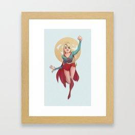 Super Girl! Framed Art Print