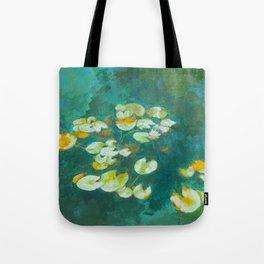 Serene Lotus Pond Tote Bag