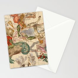 Star Atlas Vintage Constellation Map Ignace Gaston Pardies Stationery Cards