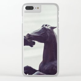 Bronze Horses - Sheridan, WY Clear iPhone Case