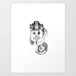 P1R4T3 C4T (Pirate Cat) Art Print