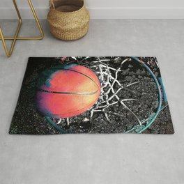 Basketball art swoosh Rug