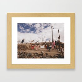 clothes-pegged  Framed Art Print
