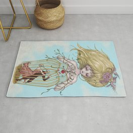 Mother Mary & Two Lover Birds Rug