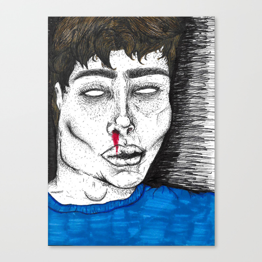 Bloody Blue Canvas Print by Averagedeadgurl CNV8378295