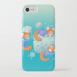 Red Space Pandas Blue Skies iPhone Case