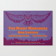 Night Marchers / Dan Sartain Gig Poster. Canvas Print