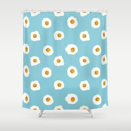 eggs breakfast food fight apparel and gifts Shower Curtain