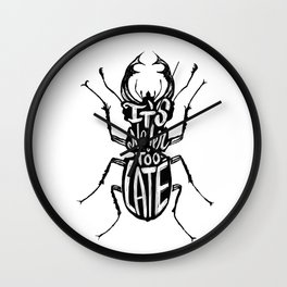 Typo Bug Wall Clock