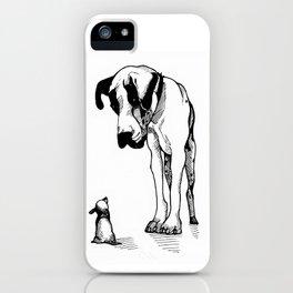 Great Dane & Chihuahua iPhone Case
