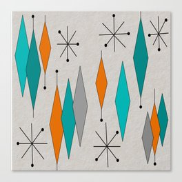 Mid-Century Modern Diamond Pattern Canvas Print